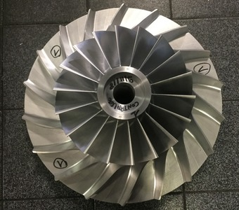 Impeller Ø 425 mm - usinage des compresseurs en 5 axes