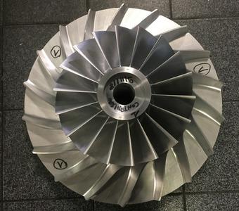 Impeller Ø 425 mm - usinage des compresseurs en 5 axes
